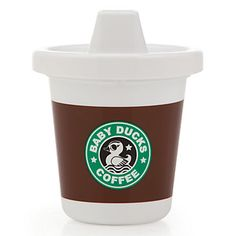 Our Rise And Shine Sippy Cup is perfect for the future coffee lover!