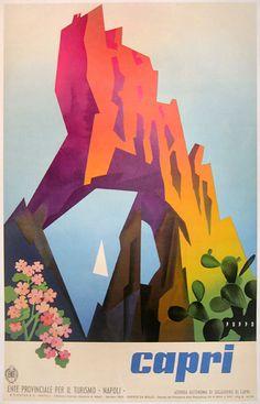 Capri Tourism poster by Mario Puppo (1955)