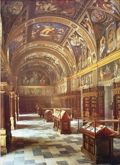 Royal Library - Monastery of El Escorial Spain