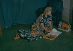 1942 - Women aiding the war effort by making do and mending; making patchwork fashions from spare material, November 1942. (Photo by Popperfoto/Getty Images) wwii imageri, war stuff, wartim year, 1940s fashion, 1940s cloth, war ii