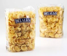 "DeLallo Orecchiette Pasta—It's no surprise these ""little ears"" have a permanent place in our hearts. Perfect for scooping thick sauces, meats and small vegetables. #italianpasta #friendtopeas"