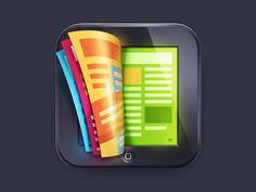 fantsti icon, icon design, ios, magazines, icons