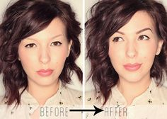 If you have wimpy brows, like I do, this tutorial is genius. Click on the photo for more.