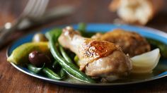 A classic recipe from Betty's '70s-era recipe card files, this skillet supper makes delicious use of summer squash, fresh green beans and a whole chicken.