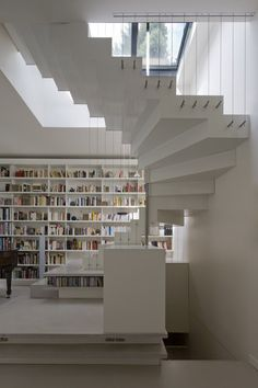 Abstraction active, Paris, 2011 by Smoothcore Architects #architecture #france #interiors #design #stair #white #paris