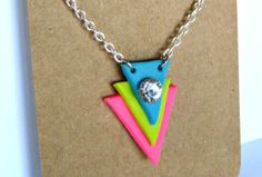 I will send you a Neon Chevron Necklace and Earrings for $5- Fiverr.com