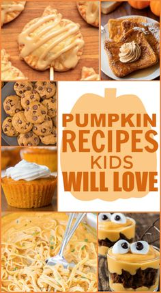 Here is a great list full of Pumpkin Recipes Kids Will Love,  and parents will love making. #fall  #autumn #DIY #fallrecipe #pumpkin #pumpkinrecipe #dessert #cooking #recipes #easyrecipes #funrecipes #deliciousrecipes  #recipeideas #easyrecipeideas #yummyrecipes #cooking #fallrecipes  #autumnrecipes