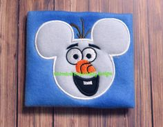 Applique Mouse Snowman Machine Embroidery by WhimsicalEmbroidery, $4.00