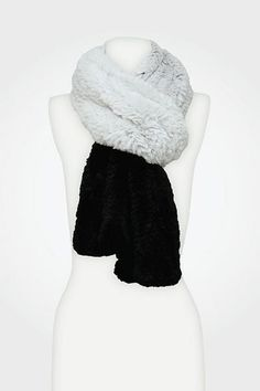 DVF | New Grosvenor Fur Scarf in chalk/black, Fall 2012: Rendez-vous