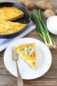 Loaded Baked Potato Frittata by Two Peas and Their Pod