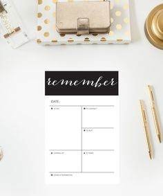 'Remember' Note Pad