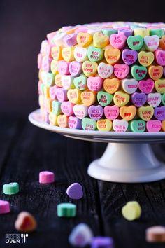 Strawberries and Cream Valentines Cake
