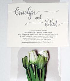 """Bella Figura """"Colette"""" wedding invitation"""