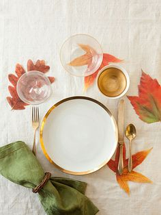 Thanksgiving Place Settings - Thanksgiving Table Setting Ideas - Good Housekeeping