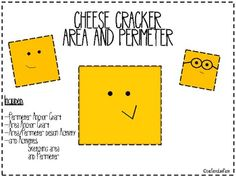 Cheese Cracker Area and Perimeter Introduction Activity $