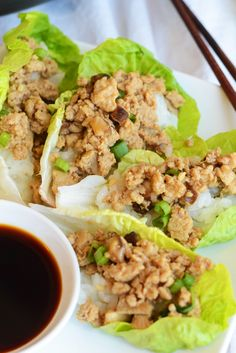 288 calories- Copycat PF Chang's Chicken Lettuce Wraps #GlutenFree via FitFoodieFinds.com