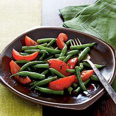 dinner, food recipes, salad recipes, green beans, apple cider, apples, tomato salad, cooking light, bean food