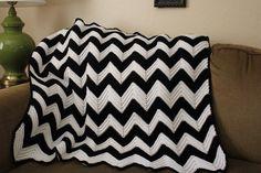 Honeybee Vintage: Chevron Crochet Baby Blanket