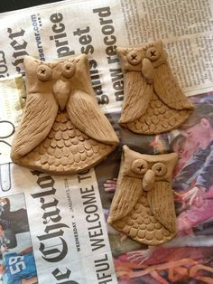 Made these from air dry clay.