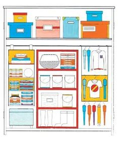 6 clever clothes closet organizing tips.