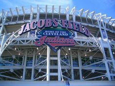 Jacobs Field: Home of the Cleveland Indians. Always Jacobs field to me...none of this progressive field bull ish.