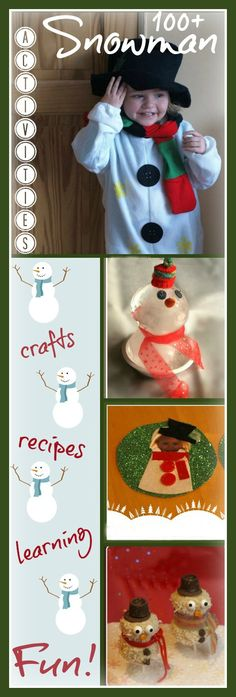 100+ Snowman activities for kids, crafts recipes, and learning!
