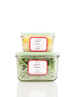 Martha Stewart Home Office kitchen labels stay on in the freezer and the microwave  #marthastewarthomeoffice