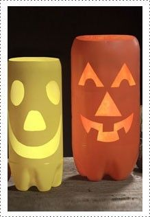 Plastic Pumpkin Luminaries