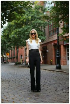 atlantic pacific, fashion, cloth, jumpsuit, style, outfit, black white, feminin flair, black pants