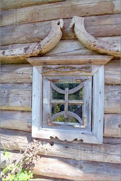 Antique window about a hundred years old