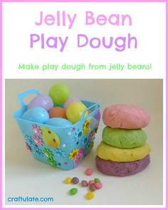 Jelly Bean Play Dough - who knew you could make play dough from jelly beans?!? By Craftulate