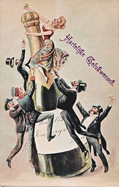 Vintage Champagne poster.  Blame it on the bubbly. Die Fledermaus.  #flederfun #lyricoperaofkansascity