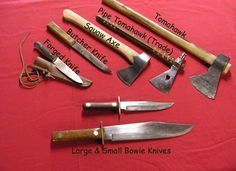 EXAMPLE OF EDGE TOOLS USED DURING THE FUR TRADE - http://www.mman.us