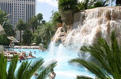 The Mirage Pool in Las Vegas...need to go back NOW! Repin and like :)