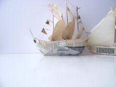 Handmade Paper Pirate Ship £25.00