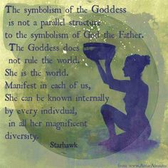 Adam had Eve, God has the Universe. God the father Earth our mother..... God and Godess.... In all there is balance