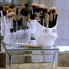 My Makeup Brushes - Storage     Makeup organization    shamelesslysouthern instagram