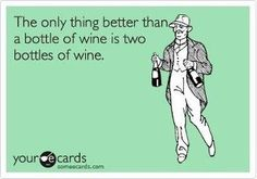 The only thing better than a bottle of wine is two bottles of wine.