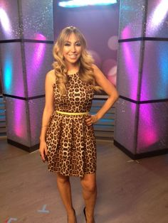Diana Madison wearing an ADA Collection Belt on HollyScoop TV