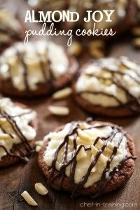 Almond Joy Pudding Cookies (with Marshmallow-coconut Icing)  l  Chef In Training