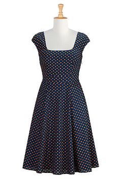 I <3 this Floral bud print cotton dress from eShakti