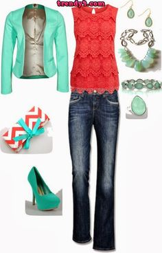 amazing color combo. shoes are stupid, but whatevs. I'd wear everything else though