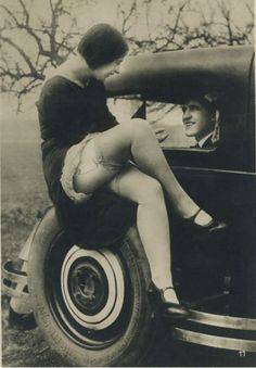 vintage photo - showing some leg!