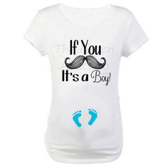 Funny Maternity / Pregnancy Shirt - If You Mustache, It's a Boy - Maternity Cut Shirt - Gender Reveal Shirt on Etsy, $24.99