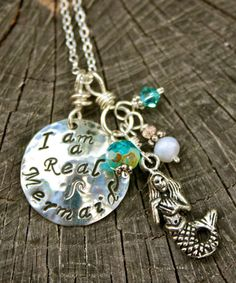 I Am a Real Mermaid Necklace May Be Personalized by mermaidtears