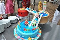 Swimming Pool Cake with slides