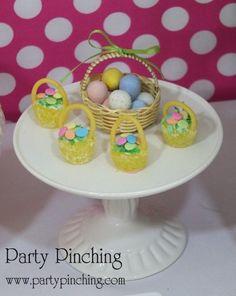 Easter gumdrop baskets, Easter baskets, Candy Easter baskets, Easter dessert ideas, Easter dessert table, Easter treats for kids, easy Easter desserts, Easter cupcakes, Easter cookies, Easter bunny