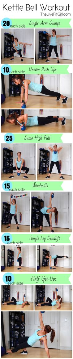 Kettlebell Workout   The Live Fit Girl