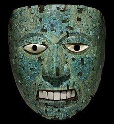 Moctezuma: Aztec ruler mascara, turquoise, mosaics, art, masks, turquois mosaic, mosaic mask, museum, aztec
