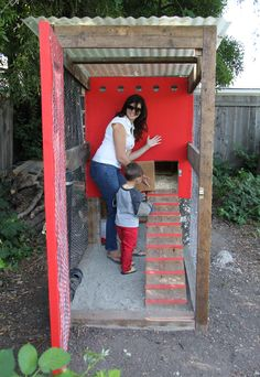 DIY chicken coop, fun for the whole family!